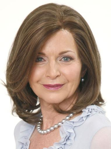 Lace Front Brown Wavy Soft Petite Wigs