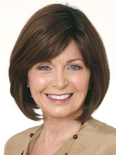 Brown Bobs Straight Exquisite Lace Wigs