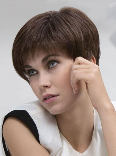 Lace Front Brown Straight Discount Human Hair Lace Front Wigs