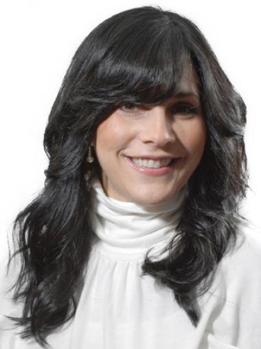 Monofilament Black Wavy Online Celebrity Wigs