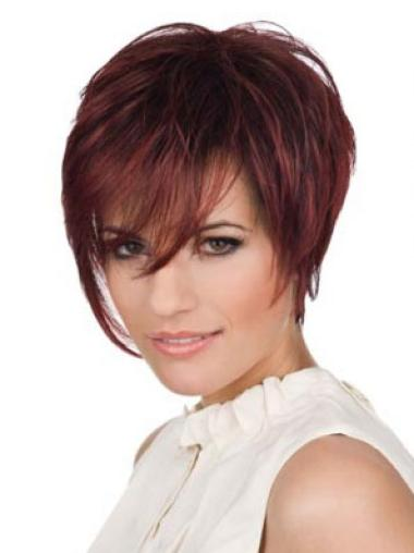 Lace Front Red Straight Easy Celebrity Wigs