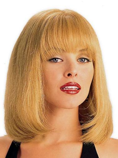 Monofilament Blonde Straight High Quality Lace Wigs