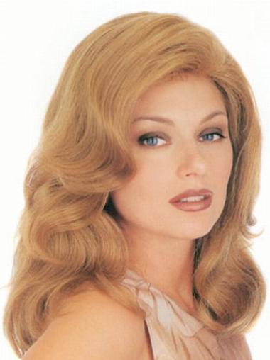 Monofilament Blonde Wavy Sleek Classic Wigs