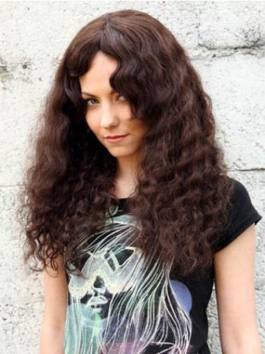 Traditiona Auburn Curly Long Human Hair Wigs