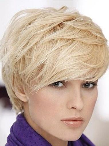 Cosy Blonde Straight Short Human Hair Wigs