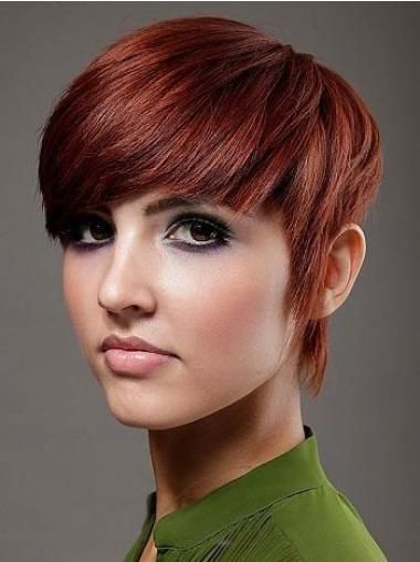Gorgeous Red Straight Short Celebrity Wigs