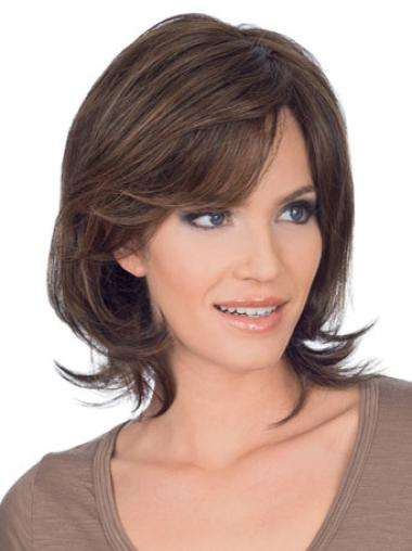 Lace Front Brown Straight Nice Remy Human Lace Wigs