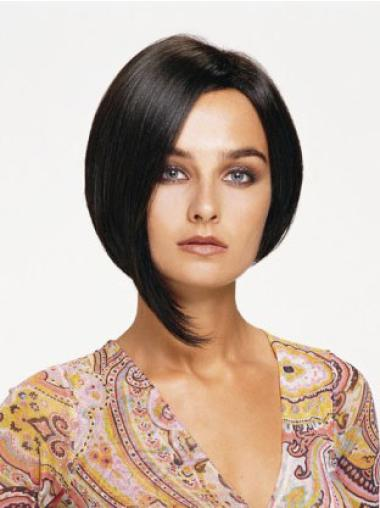 Lace Front Black Straight Tempting Human Hair Wigs