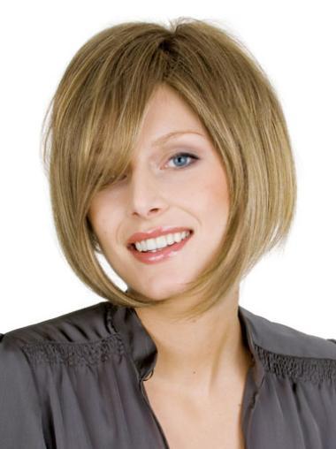 Glamorous Blonde Straight Short Wigs