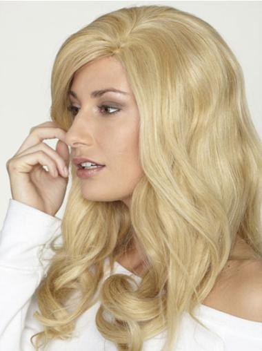 Lace Front Blonde Curly Fashionable Human Hair Lace Front Wigs