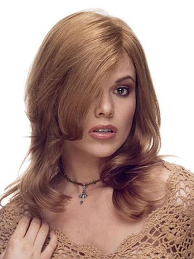 Lace Front Brown Wavy Radiant Human Hair Lace Front Wigs