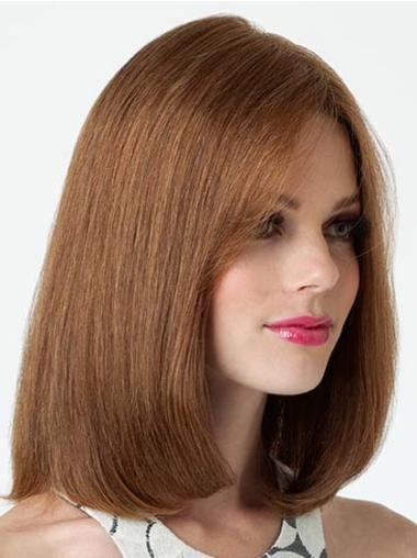 Lace Front Brown Straight Sleek Remy Human Lace Wigs