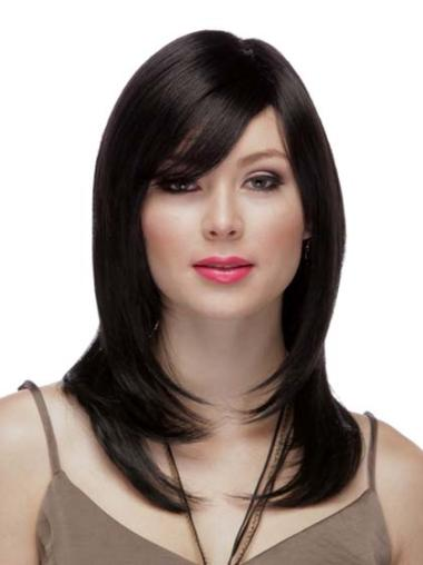 Incredible Black Straight Long Wigs