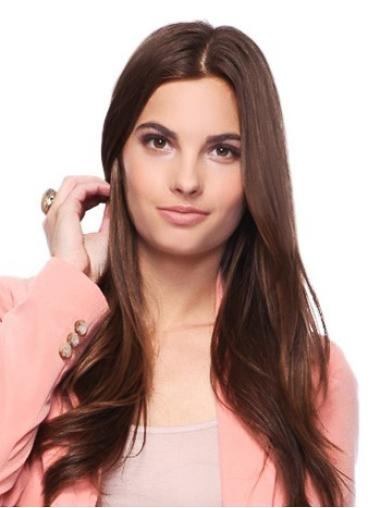 Fashionable Auburn Straight Long Wigs For Cancer