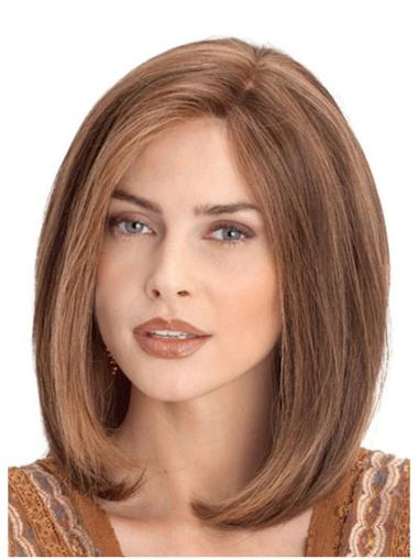 Lace Front Auburn Straight Impressive Human Hair Wigs