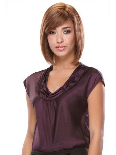 Monofilament Auburn Straight Fashionable Full Lace Wigs