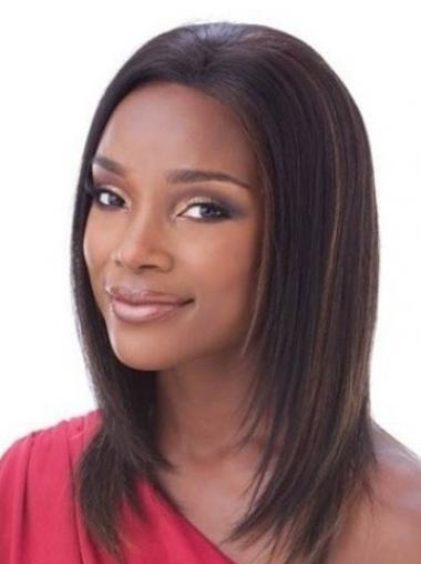 Cool Auburn Straight Shoulder Length Lace Front Wigs