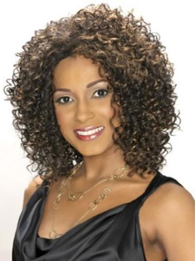 Lace Front Brown Curly Cheapest Glueless Lace Wigs