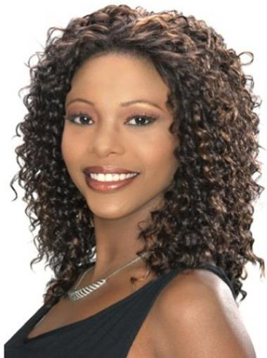 Lace Front Brown Curly Stylish Celebrity Wigs