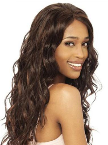 Lace Front Brown Wavy Suitable Human Hair Lace Front Wigs