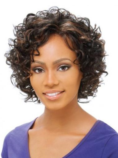 Lace Front Brown Curly Comfortable Petite Wigs