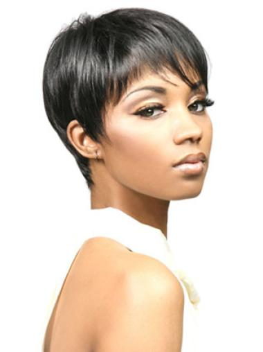 Top Black Straight Cropped African American Wigs
