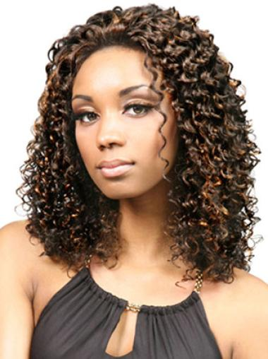 Lace Front Brown Curly High Quality Glueless Lace Front Wigs