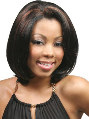Black Bobs Straight Affordable Lace Wigs