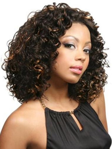 Brown Afro Curly Shining Lace Wigs