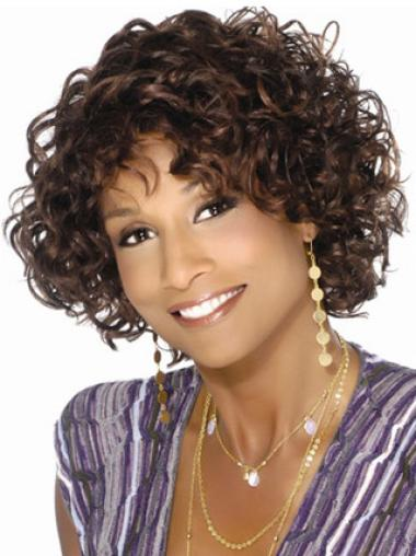 Style Brown Curly Short African American Wigs