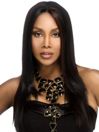 Cheapest Black Straight Long African American Wigs