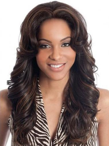 Lace Front Brown Wavy Top Human Hair Lace Front Wigs