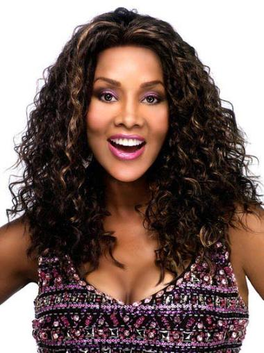 Lace Front Brown Curly Fashionable Glueless Lace Front Wigs