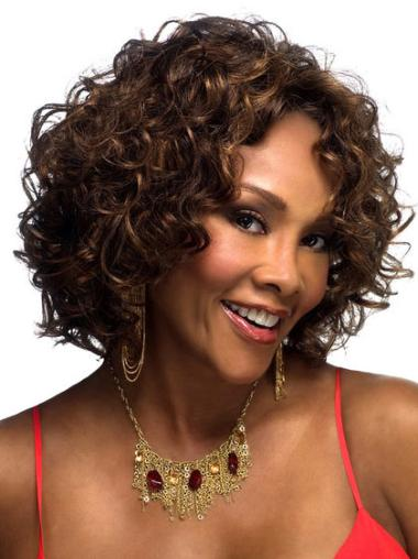 Lace Front Brown Curly Online Petite Wigs