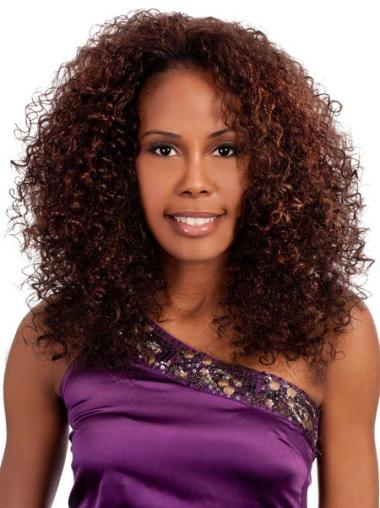Glamorous Auburn Curly Shoulder Length Wigs
