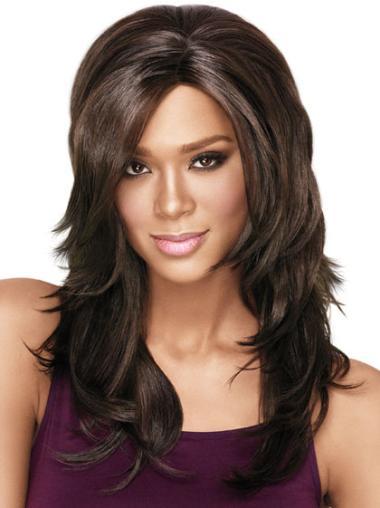 Online Wavy Brown Long African American Wigs