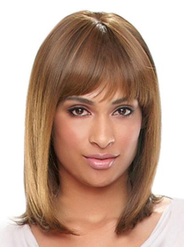 Glamorous Auburn Straight Shoulder Length African American Wigs