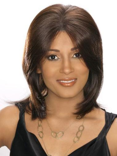 Lace Front Brown Straight Sassy Glueless Lace Front Wigs