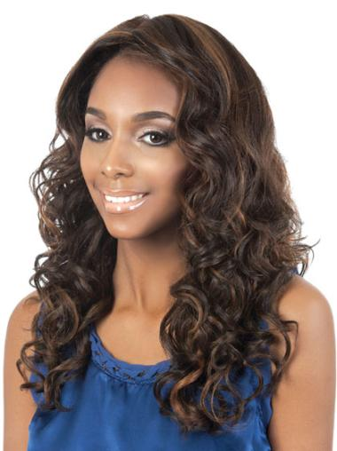Amazing Brown Curly Long African American Wigs