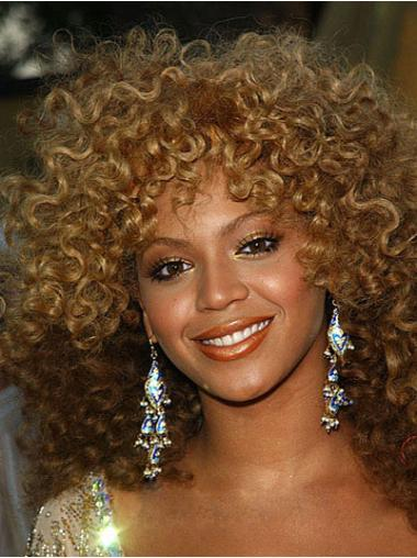 Suitable Blonde Curly Shoulder Length Wigs