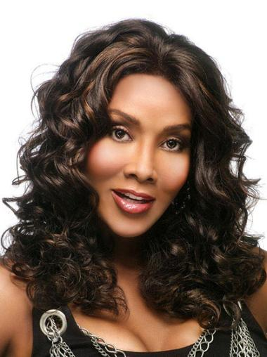 Perfect Brown Wavy Long African American Wigs