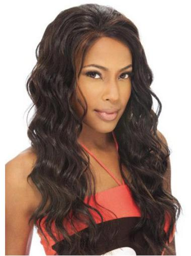 Lace Front Brown Wavy Style Human Hair Lace Front Wigs