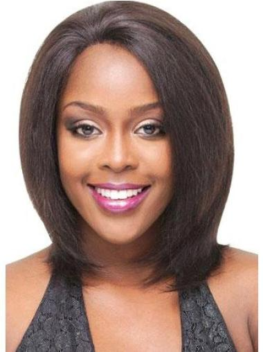 Lace Front Brown Straight Sleek Glueless Lace Front Wigs