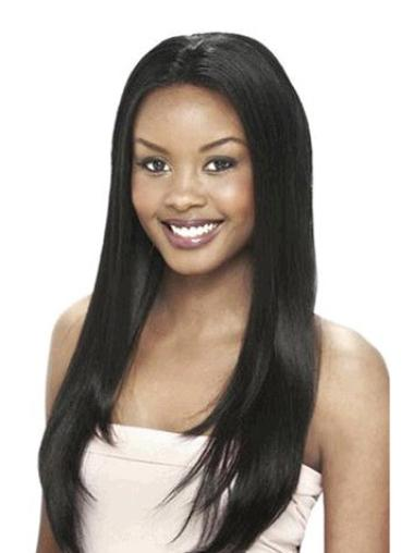 Lace Front Black Straight Fabulous Human Hair Lace Front Wigs