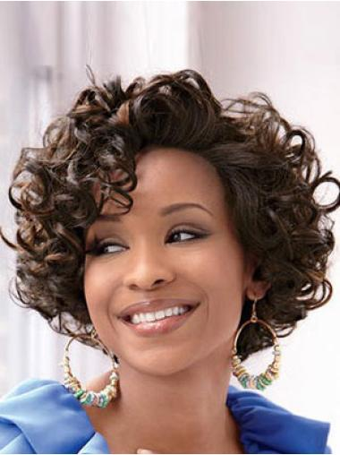 Lace Front Brown Curly Comfortable Glueless Lace Wigs