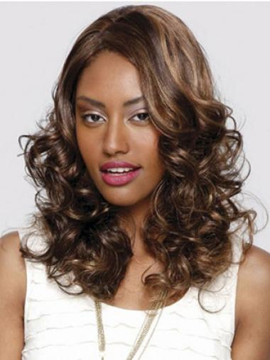 Lace Front Auburn Curly Preferential Glueless Lace Front Wigs