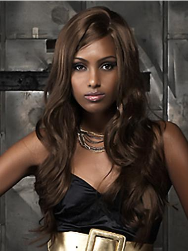 Fashion Brown Curly Long African American Wigs