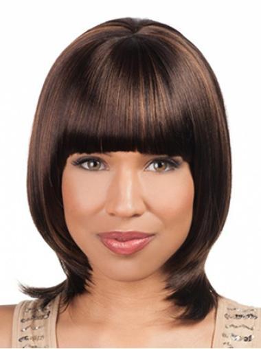 Lace Front Auburn Straight Gentle Wigs