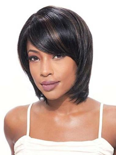 Lace Front Black Straight Fashion Glueless Lace Front Wigs