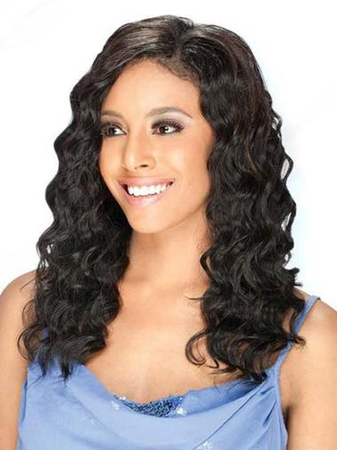Lace Front Black Wavy Good Human Hair Lace Front Wigs